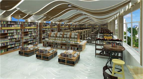 大型书店板式展柜—板式展柜定制案例